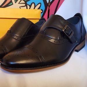 Signature Men's Single Monk Strap Berogue Shoes 9